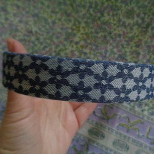L Erickson Luxury Hair Headband Blue Floral NWOT